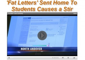 Fat Letters Sent home to Students
